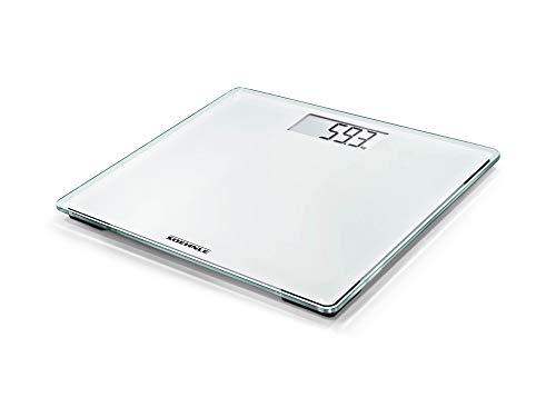 Soehnle Style Sense Compact 200, Personen Digitalwaage in kompakter Größe, Waage mit gut lesbarer LCD-Anzeige, Personenwaage im extraflachen Design