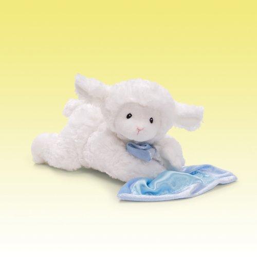 GUND Lena Lamb with Blue Blanket Stuffed Animal Sound Plush, 6'