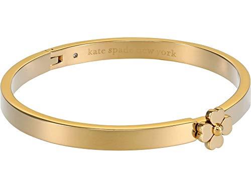 Kate Spade Metal Thin Hinged Bangle Bracelet One Size Gold