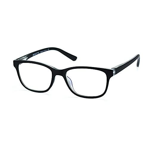 ZENOTTIC Occhiali Anti Luce Blu Bambini per Computer Lenti Antiriflesso Leggero Protezione degli Occhi Occhiali da Gioco per Ragazzo e Ragazze (NERO+CRISTALLO)