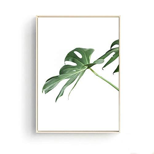 LiMengQi Nordic wohnkultur palmen grünpflanzen Landschaft Kaffee Poster Kunst Bilder auf leinwand malerei küche Restaurant Dekoration (kein Rahmen)