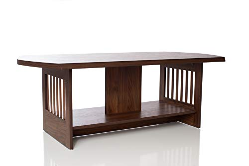 Brown Coffee Table by OMISHOME   Stylish Design   Easy to Assemble Living Room Table   Stain and Warp Resistant