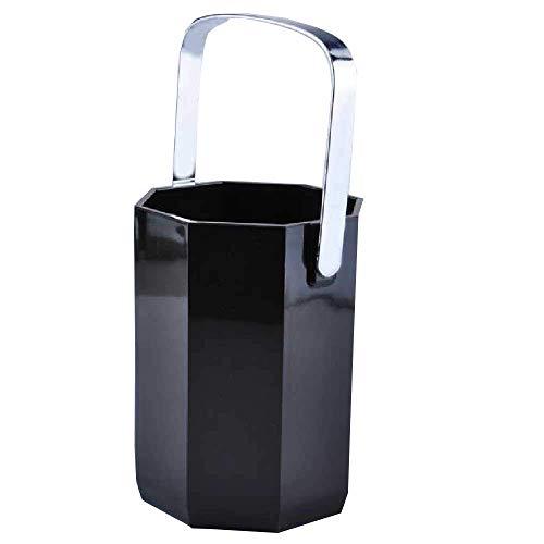 Cubitera,Cubo de Hielo Barra de Cocina Cubos de Utensilios 1 L Cubo de Hielo de anís acrílico Negro Negro