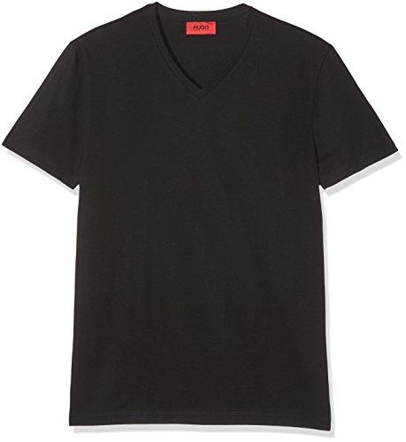 HUGO Herren v T-Shirt 2er Pack L Schwarz ( 001)