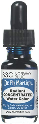 Dr. Ph. Martin's Radiant Concentrated Water Color, 0.5 oz, Norway Blue (33C)