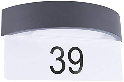 Smartwares 5000.704 Wandleuchte – Tag/Nacht-Sensor – Hausnummernschild