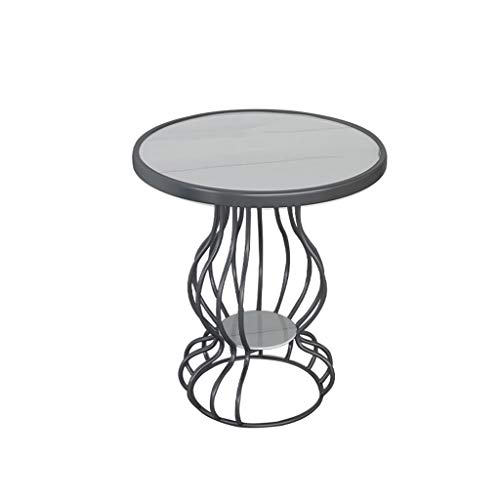 KangJZ Meubles Salon Tables Tables basses Bar métal Comptoir Tables basse, Petite Tables de marbre artificiel Terminer ronde Coffee Shop Magasin Canapé d'angle Tables d'appoint Tables de lit