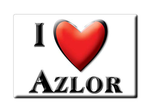 Enjoymagnets AZLOR Souvenir IMANES DE Nevera Reino Unido ARAGÓN IMAN Fridge Magnet Corazon I Love (VAR. Normal)