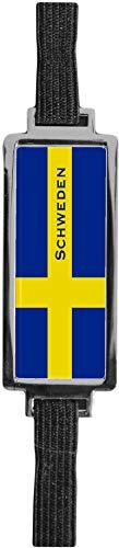Schmucklesezeichen aus Metall mit gerader Kontur | Flagge Schweden #9923006