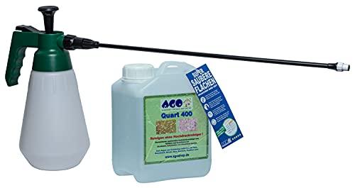 AGO ® Quart Komplett Set 2l Quart 400 Hochkonzentrat Grünbelagentferner + Druckluftspüher mit 50cm Verlängerung Profi Spezial 6 Bar