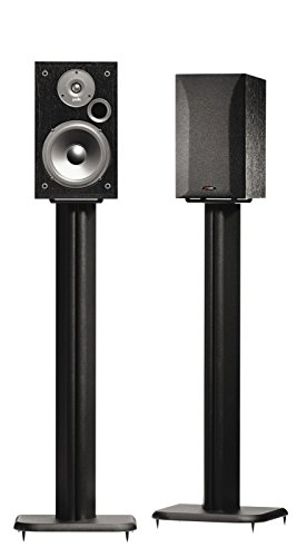 SANUS BF31-B1 31' Speaker Stands for Bookshelf Speakers up to 20 lbs - Black - Set of 2