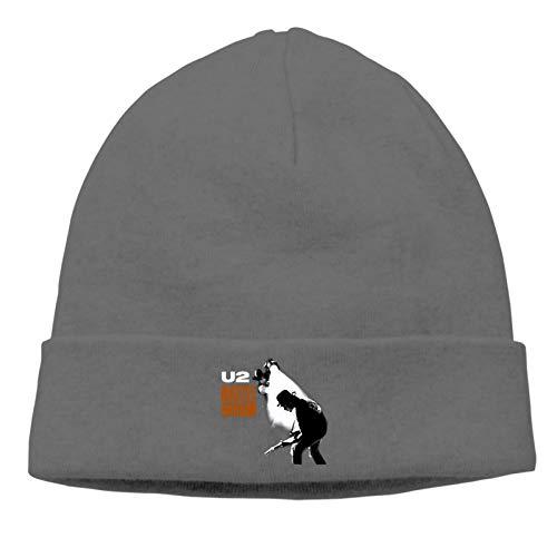 Nijio Unisex U2 Rattle and Hum The Edge Bono for Mens Warm Cap Snapback Cap Wool Cap Beanie Cap Adjustable Men's & Women's
