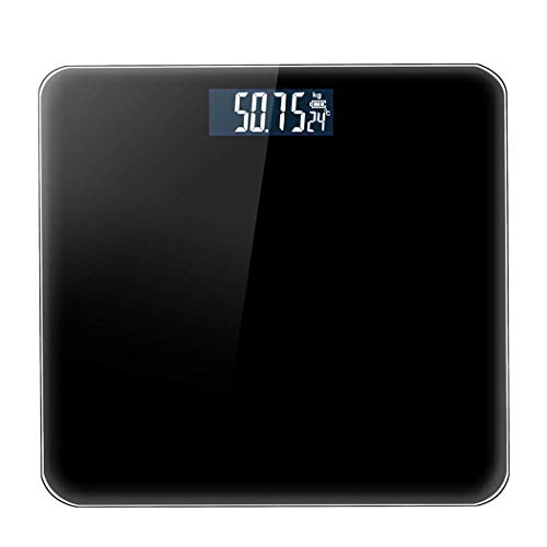 XIUYU Personenwaage, Haushalt Elektronische Waagen, Erwachsene Gesundheit, Digitale Fettwaagen (Farbe: Schwarz) (Farbe: Schwarz) (Color : Black)
