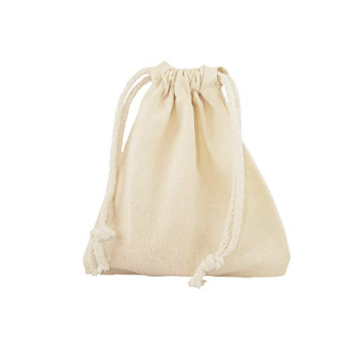 Allbag Baumwolle Leinwand Tasche Kordelzug Tasche, Mittagessen Tasche, Kosmetik Tasche, Socken Tasche, Schmuck Tasche, Spielzeug Tasche, kleine Sachen Sack 10x15cm (5)