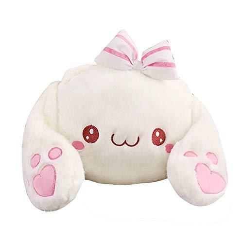 Boufery Plush Soft Rabbit Backpack, Rabbit Plush School Bag, Cartoon Plush Toy Rabbit Shoulder Bag, Messenger Bag 40cm (Cute)