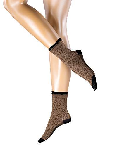 ESPRIT Damen Socken Glamourous Leo - 1 Paar, Elfenbein (Cream 4011), Größe: 39-42