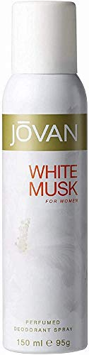 Jovan Deodorant Spray for Women, White Musk, 5 Ounce