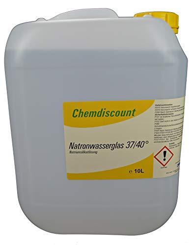 10Liter (ca. 13,5kg) Natronwasserglas 37/40°, Natriumsilikat, versandkostenfrei