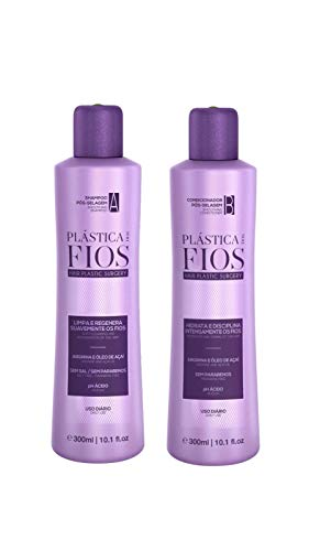 Cadiveu Plastica Dos Fios - Home Care - Shampoo and Conditioner Hair smoothing set for all hair types, Duo Set. (2 x 300ml)
