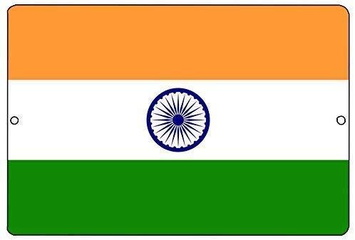 BDTS Indische Vlag Metalen Blik Teken 8x12 inch muur Decor Man Cave Bar India