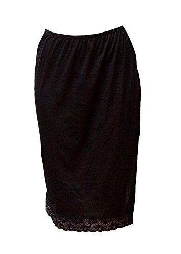 "Under Moments Long Skirt (UM52030) Black, 27"" L (Pack of 3)"