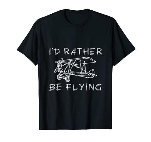 Avión Decoración Aviación Decoración Piloto Avión Hélice Camiseta