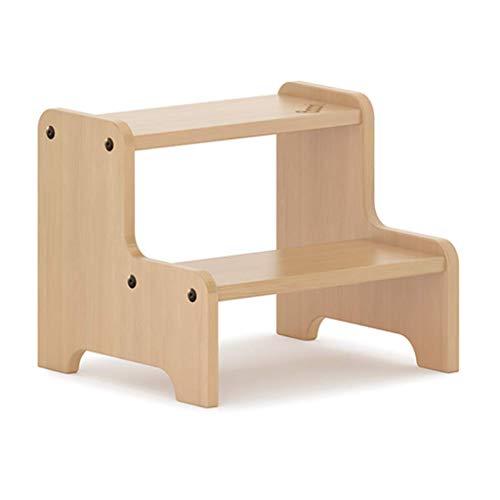 ZRXJQ-Klappstufen Holz 2 Kinder Tritthocker Haushalt Treppenstühle Fußhocker, Hocker für Kleinkind für Töpfchen-Training und Einsatz im Badezimmer oder in der Küche
