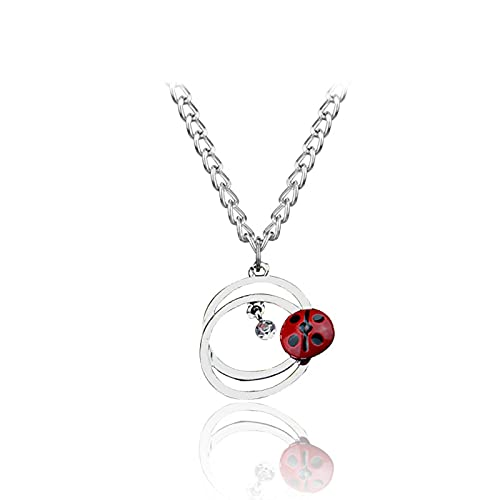 Ladybug Girl Reddy Black Cat Noel Bell Orange White Foxtail Gold Hook Colgante Collar Llavero Joyería Moda