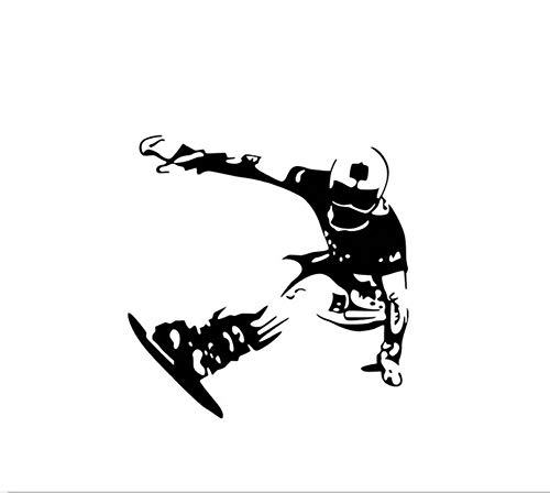Hlnaughty extreme sport ski muur stickers woonkamer bank kabel auto trekstang ski winter muur decal bank kinderkamer skiër vinyl huis decoratie 57Cmx58Cm