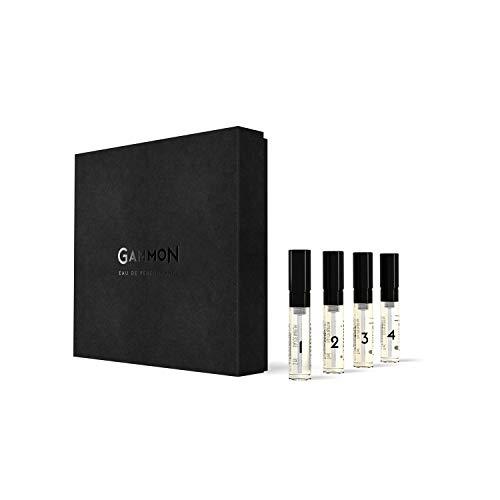 GAMMON - Eau de Performance, EXPLORER-SET, alle Düfte zum Kennenlernen, 4 x 2 ml Eau de Parfum für Herren/Mann