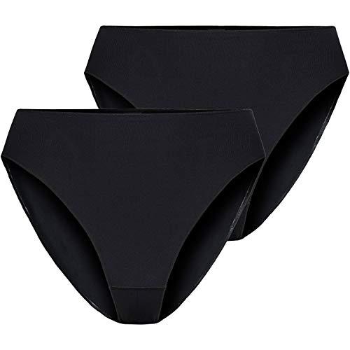 Nina von C. 2 Stück Damen Jazzpant Basic Minislip Slip Sport Farben zur Auswahl, Farbe:schwarz, Grösse:XL - 42