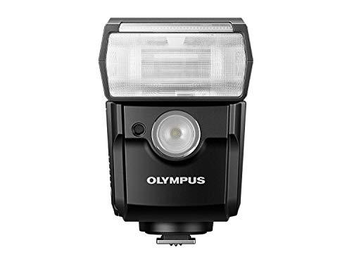 Olympus FL-700WR - Flash controlable automáticamente (Distancia Focal Auto/Manual 12 mm a 75 mm, lámpara LED para vídeos, ángulo de iluminación 77°, Control inalámbrico) Color Negro