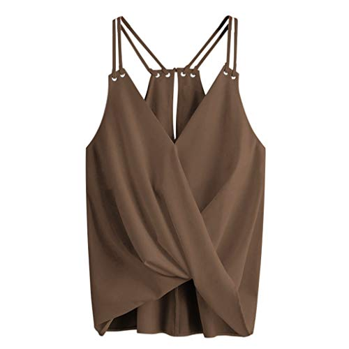 Vest for Women Plus Size Maternity Tank Tops, Women Summer Floral Nursing Layer Sleeveless T-Shirt Vest Breastfeeding Clothes Coffee