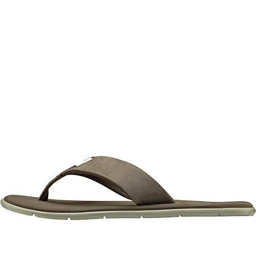 Helly Hansen W Seasand Leather, Sandal Donna, Marrone (Fossil/Aluminium), 38 EU