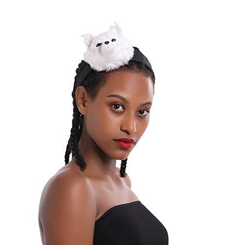 Skysep Belle Forme de Renard Bandeau Halloween Décoration Bandeaux Accessoires de Déguisement Carnaval Cosplay Costume Fancy Dress Party Coiffe Rangé (Color : White)