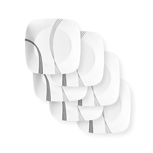 Corelle Boutique Dinner Plate Urban Arc 10.5in (26.7cm) 6 Pack