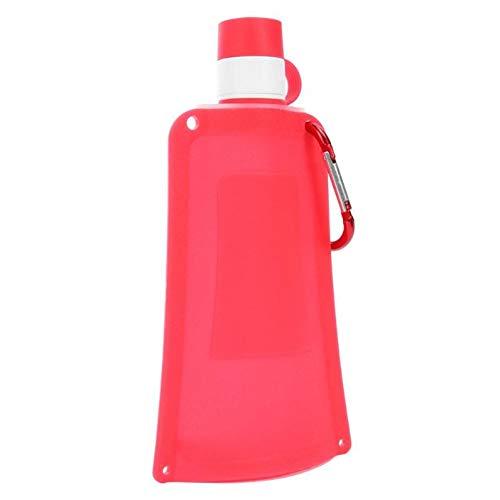 CGMZN Wasserglasbeutel Bouteille D'eau Pliable en Silicone 500 ml Bouilloire pliante portative Bouteille D'eau de Sport en Plein air Camping Voyage Bouteille
