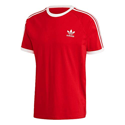 Adidas 3 Stripes - Camiseta rojo L
