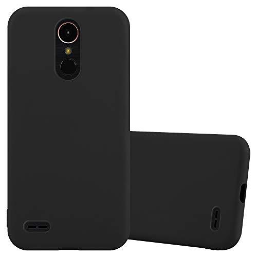 Cadorabo Custodia per LG K10 2017 in CANDY NERO - Morbida Cover Protettiva Sottile di Silicone TPU con Bordo Protezione - Ultra Slim Case Antiurto Gel Back Bumper Guscio