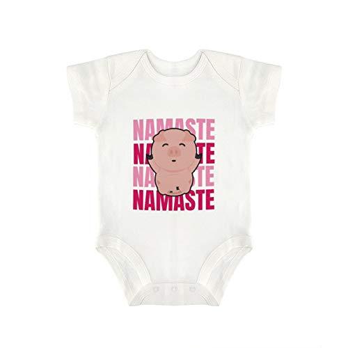 DKISEE Yoga Namaste Pig - Body divertido para bebé