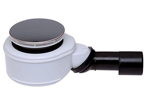 Hutterer & Lechner sifon HL520F voor douchebak, voor 90 mm afvoeropening, met roestvrij stalen afvoerafdekking met 113 mm diameter