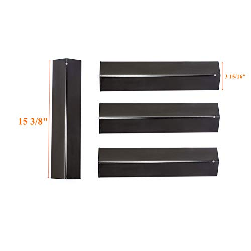"Zljoint BBQ Gas Grill Heat Plate Porcelain Steel Heat Shield for Aussie, Brinkmann, Uniflame, Charmglow, Grill King, Lowes Model Grills(4-Pack) Dimensions: 15 3/8"" x 3 15/16;"