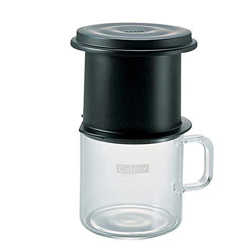 Conjunto V60 Caféor HARIO Preto 200 ml