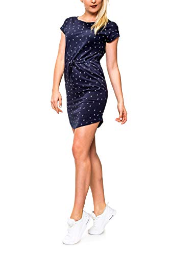 ONLY Damen Jerseykleid Freizeitkleid Sommerkleid Shirtkleid Print (L, Night Sky/Anchor/Style 2)