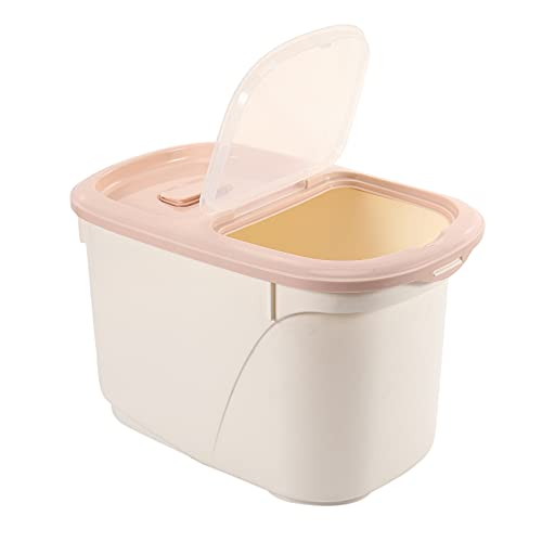 CKMSYUDG - Contenitore per riso ermetico da 10 kg, in plastica senza BPA e scatola a prova di inserti, colore: Rosa