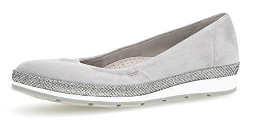 Gabor 22.400 Damen Ballerinas,Frauen,Flats,Sommerschuh,klassisch Comfort-Mehrweite,lightgrey(Glamour),6 UK