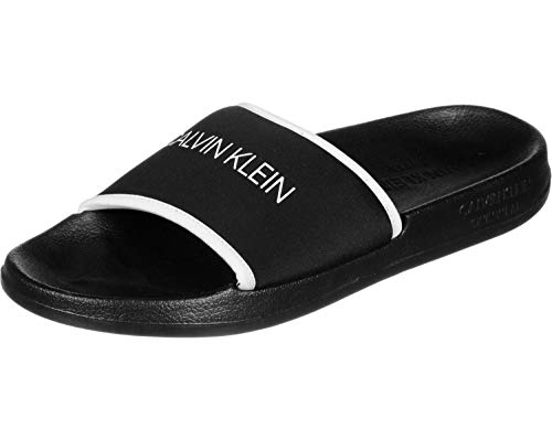 Calvin Klein Männer Slipper Swimwear CK Artikel KM0KM00377 Slide, 001 Nero - Black, EUR 47/48 - UK 12/13 - USA 13/14 - cm 30.5/31.5