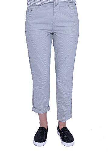 OPUS Damen Letty 7/8 Side Stripe Hose, Blau (Simply Blue 6058), W(Herstellergröße: 42)