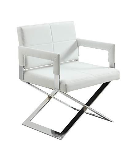 Milan Dania Arm Chair, White