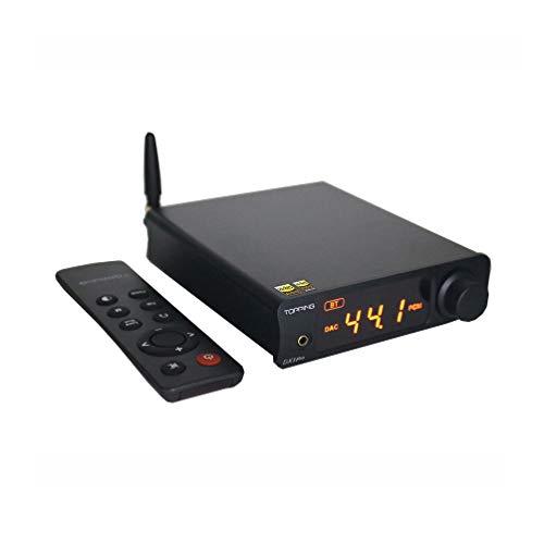 Topping DX3 PRO LDAC HiFi DAC Kopfhörerverstärker XMOS XU208 Bluetooth USB / Optisch / Koaxial DSD512 32bit / 768KHz Stereo Audio Verstärker Decoder Fernbedienung (Schwarz)